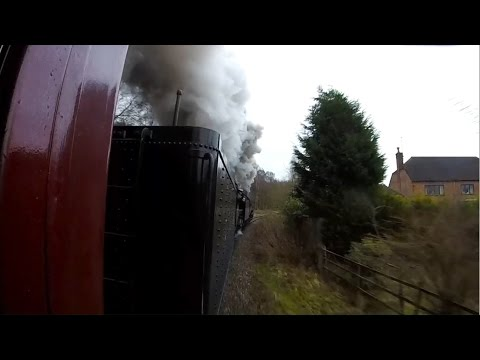 Double headed USA S160 Steam Locomotives on the Churnet Vall…
