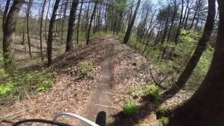 This is my fast-ish (1:08 on Strava) run on the Mandofun section of KA-BAR Trail, Griffin Bike Park.