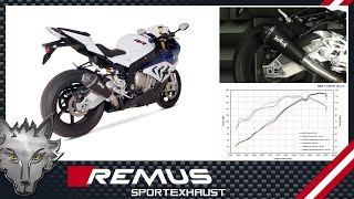 preview picture of video 'BMW S1000 RR Mod. 2015 with REMUS Hypercone sport exhaust system'