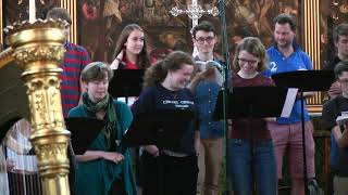 John Rutter - The Shepherd's Pipe Carol, in rehearsal with The Choir of Merton College, Oxford