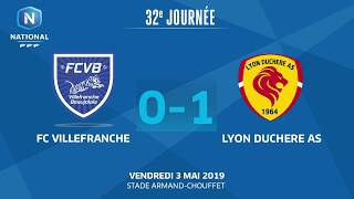 32e J. National   FC Villefranche-Beaujolais - Lyon Duchère AS (0-1)
