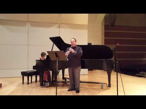 Paul Melidona playing the first movement of Camille Saint Saens' Sonate for Clarinet and Piano