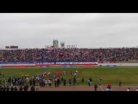 """""""Extraordinario recibimiento de la 12 Tricolor de Trujillo Barra oficial del Club Carlos A Mannucci"""" Barra: La 12 Tricolor • Club: C.A. Mannucci"""
