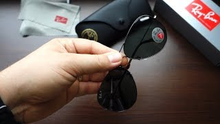 Review Ray-Ban RB3025 004 58 62 classic gunmetal G15 polarized lenses & how to spot a fake