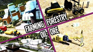 Can We Build ALL Four Industries & Still Make Money in Cities Skylines?
