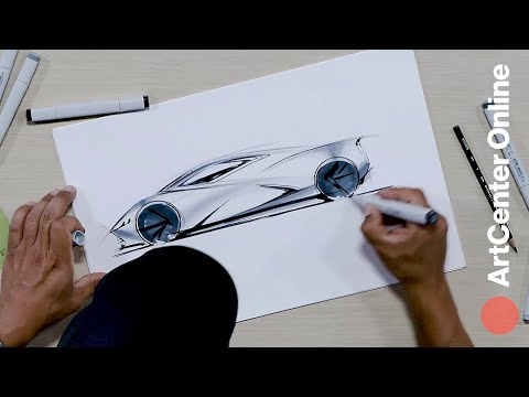 Learn How to Draw a Car in ArtCenter Online's Car Design Course