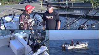 preview picture of video 'Trolling for Lake trout, Lake Ontario, Port Dalhousie, ON'