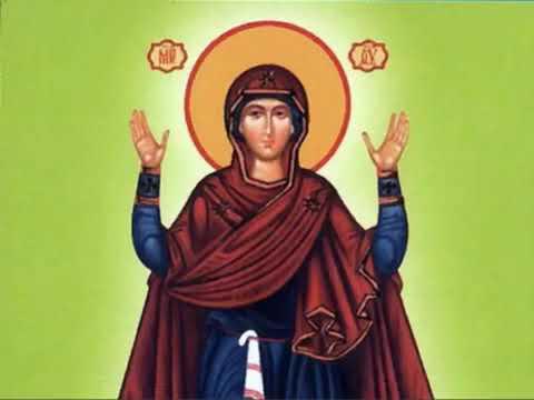 """Молитва Богородице пред иконой """"Нерушимая Стена""""."""