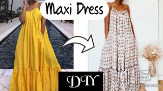 DIY MAXI DRESS | ROBE MAXI | LONGUE ROBE | ROBE D'ÉTÉ