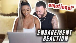 REACTING TO OUR PROPOSAL VIDEO!!