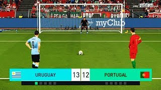 PES 2018   URUGUAY vs PORTUGAL   Penalty Shootout   Suarez vs Ronaldo   Gameplay PC