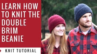 Easy Knitting Tutorial  How to Knit a Double Brim Beanie