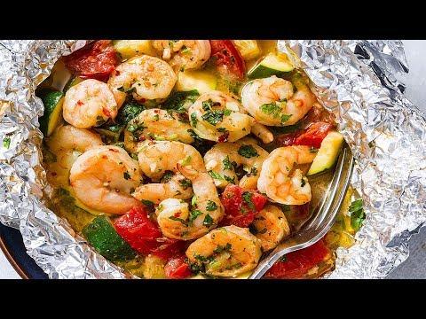 Garlic Dijon Shrimp And Salmon Packs - tasty Recipes
