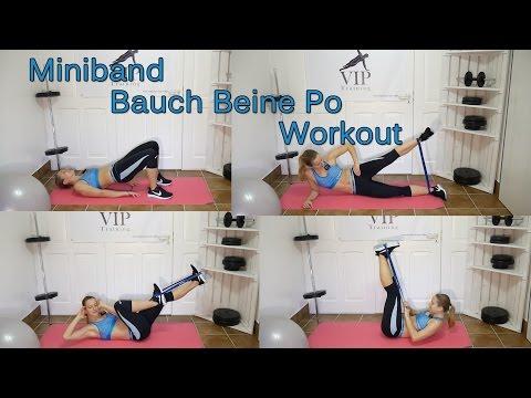Bikinifigur Workout zum Mitmachen - Bauch Beine Po mit dem Mini-Band