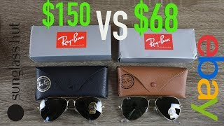 How to Spot Fake Ray Ban Aviators Full Guide - Sunglass Hut vs eBay