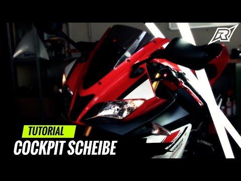 Cockpit Scheibe wechseln Yamaha YZFR 125 | Tutorial