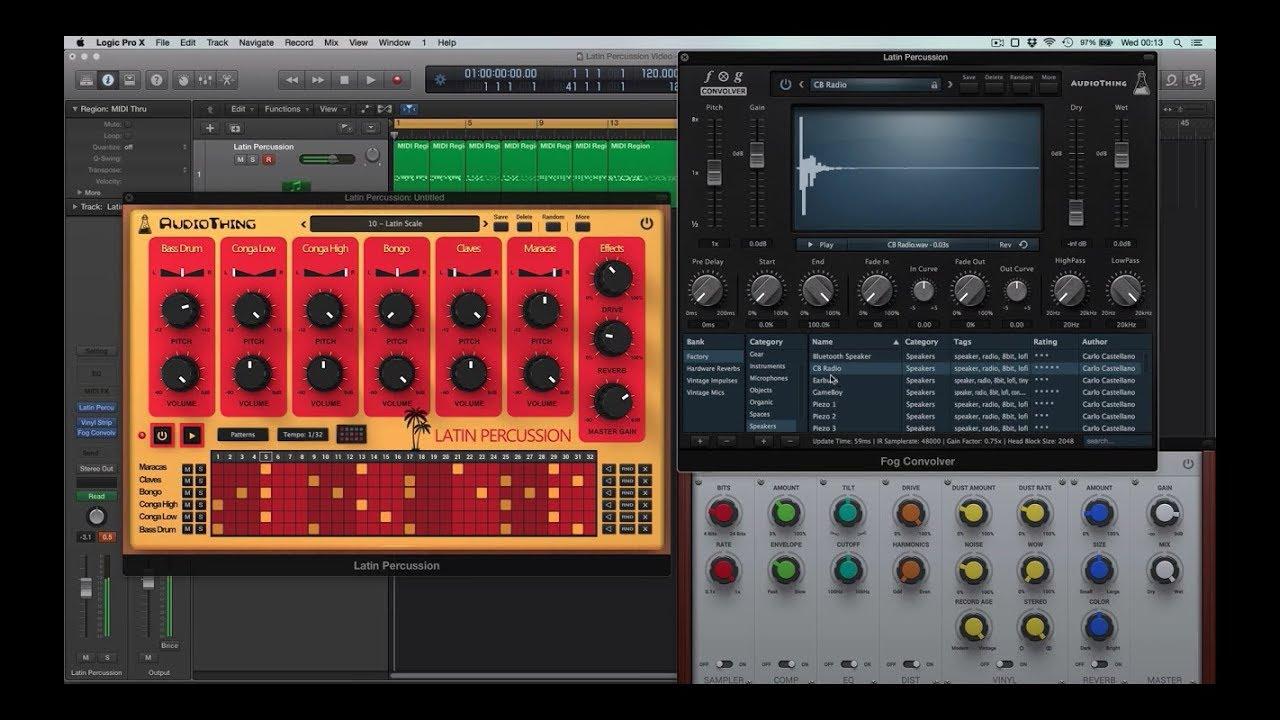 latin percussion drum machine vst au aax plugin audiothing. Black Bedroom Furniture Sets. Home Design Ideas