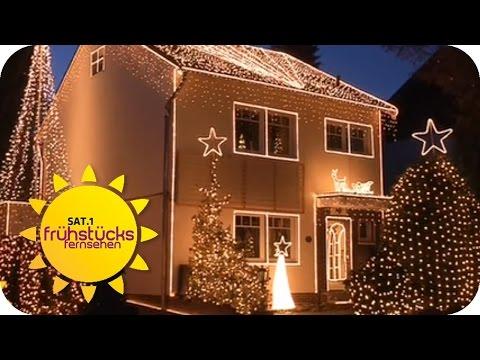 Weihnachtsbeleuchtung extrem! | SAT.1 Frühstücksfernsehen