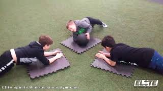 Youth Athletes Working Their Core Strength with these Plank Variations
