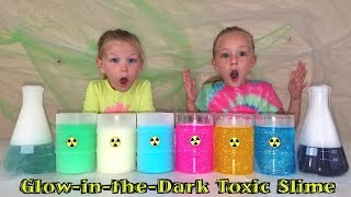 Alexa Chooses Our Slime! Making Toxic Glow in the Dark Slime vs Dry Ice Slime!!
