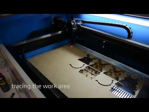 50 Watt CO2 laser cutter/engraver from China, ebay laser, blue and white laser