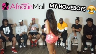 HOMEBOYS RATE MY OUTFITS (FUNNY ASF) ft. African Mall | Queen Chioma