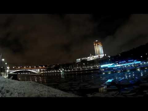 Москва река. Катер. Вид огонь!
