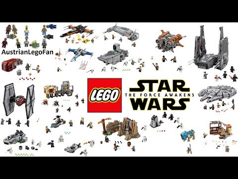 All Lego Star Wars Force Awakens Sets Compilation - Lego Speed Build Review