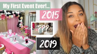My First Event Ever!! (THEN Vs NOW) You Wont Believe.. Event Planning Business With No Money?!