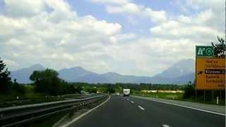 preview picture of video '25.06.2010 (12:04) slow. Autobahn A2: Anschluß Vodice (gen Kranj)'