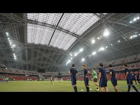 今夜8時!日本代表試合会場で最終調整
