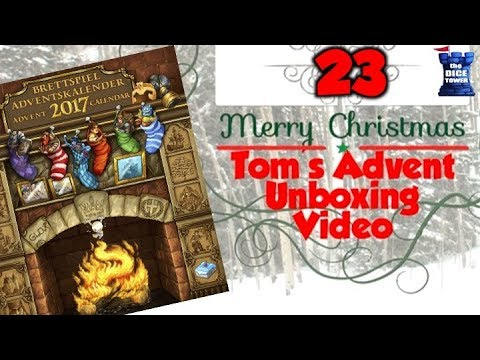 Tom's Advent Calendar Unboxing Video - December 23, 2017