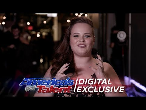 Elimination Interview: Yoli Mayor Chats About Gaining Confidence On AGT - America's Got Talent 2017 (видео)