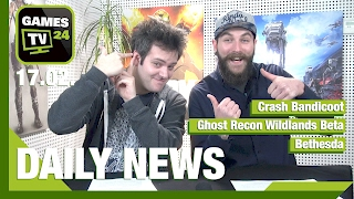 Ghost Recon Wildlands Open-Beta, Crash Bandicoot, Fallout 4 Mods | Games TV 24 Daily - 17.02.2017