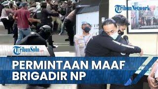 Brigadir NP yang Banting Mahasiswa saat Demo Meminta Maaf pada Korban di Depan Ayahanda