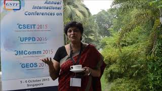 Prof. Archana Rakesh Singh at JMComm Conference 2015 by GSTF Singapore