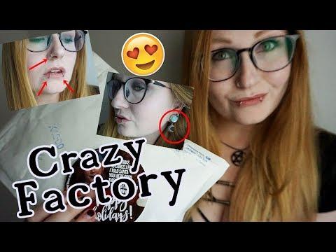 CRAZY FACTORY Haul + NIE WIEDER Lippenpiercings?! | Neuer Piercingschmuck.
