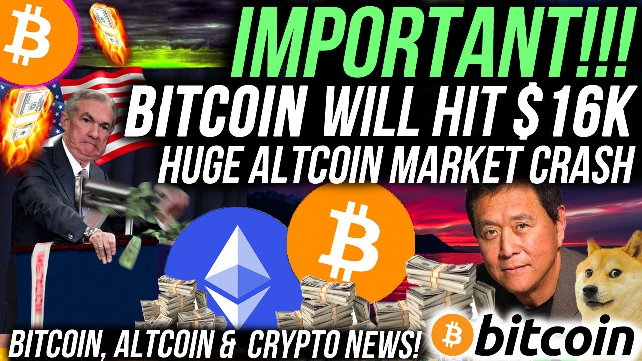 IMPORTANT!! BITCOIN WILL HIT $16,000 BUT ALTCOINS WILL CRASH! STOCK MARKET BUYS BITCOIN! Crypto News #Bitcoin #BTC