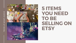 Best 5 Items to sell right now on Etsy | Online store sales are slow ?