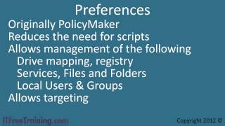 MCITP 70-640: Group Policy New Features