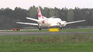 preview picture of video 'Saab 340 UR-CGQ SprintAir taxi and take off Zielona Góra Babimost EPZG/IEG'
