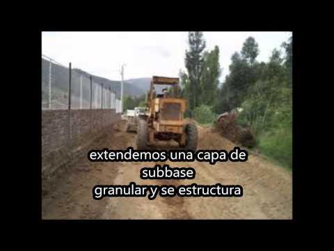 Proceso para construccion de vias.