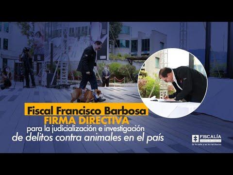 Fiscal Barbosa firma directiva para judicialización e investigación de delitos contra animales