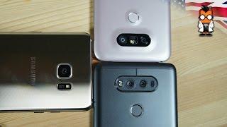 LG V20 Vs G5 Vs Samsung Galaxy Note 7 + Camera Comparison