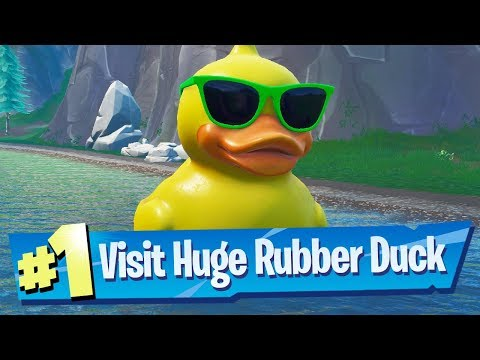 Visit a Giant Beach Umbrella and a Huge Rubber Ducky Location - Fortnite 14 Days Of Summer Challenge