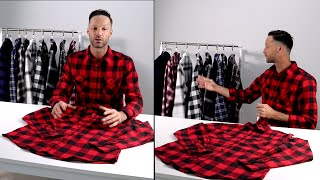 Men's Plaid Flannel Shirts-Long Sleeve Casual Button Down Slim Fit Outfit For Hanging Out Or Work