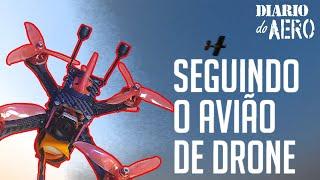 ????????????Voo Drone Racer FPV - Manobras Perseguindo o Aeromodelo ????????????