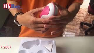Video máy massage rửa mặt cao cấp mini Cnaier AE-8289A - hỗ trợ làm sạch da gấp 10 lần