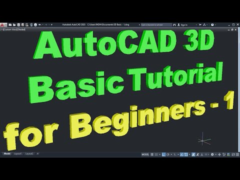 AutoCAD 3D Basic Tutorial for Beginners - 1