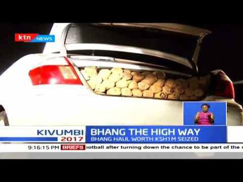Police in Kiambu County apprehend two suspects while ferrying bhang worth Sh1m